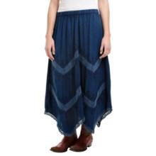 Studio West Hanky Hem Skirt (For Women) in Denim - Closeouts