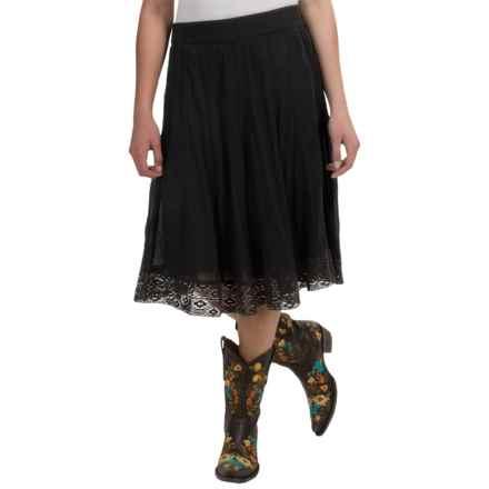 Studio West Lace Hem Skirt (For Women) in Black - Overstock