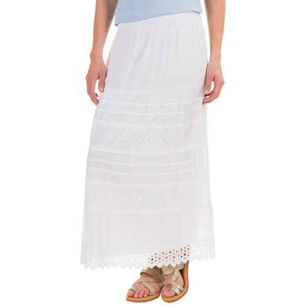 Studio West Novelty Boho Skirt (For Women) in White - Closeouts