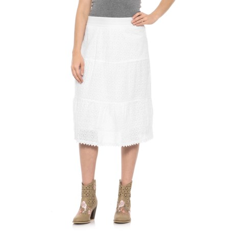 Studio West Patterned Skirt (For Women) in White