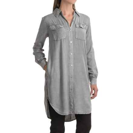 Studio West Plaid Duster Shirt - Long Sleeve (For Women) in Grey - Closeouts