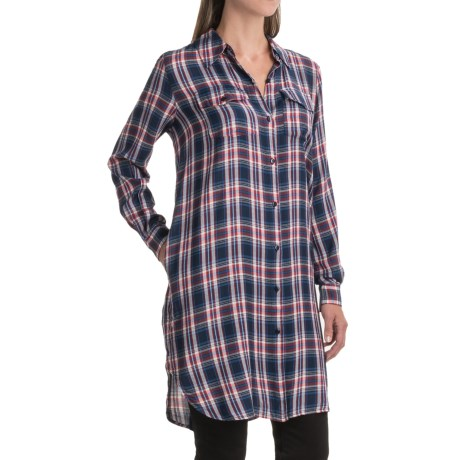 Studio West Plaid Duster Shirt - Long Sleeve (For Women)