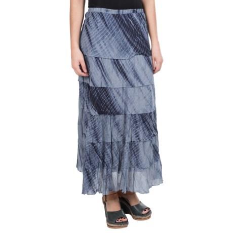 Studio West Raw-Edge Tiered Skirt (For Women) in Tye Dye