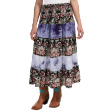 Studio West Tiered Boho Skirt (For Women) in Black - Overstock