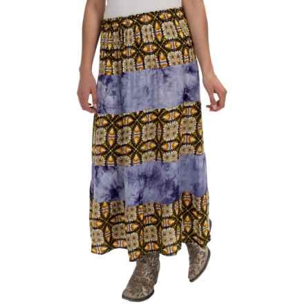 Studio West Tiered Boho Skirt (For Women) in Brown - Overstock