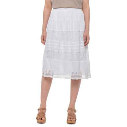 b5a0e240 Studio West White Mid-Length Eyelet Skirt (For Women) in White - Closeouts