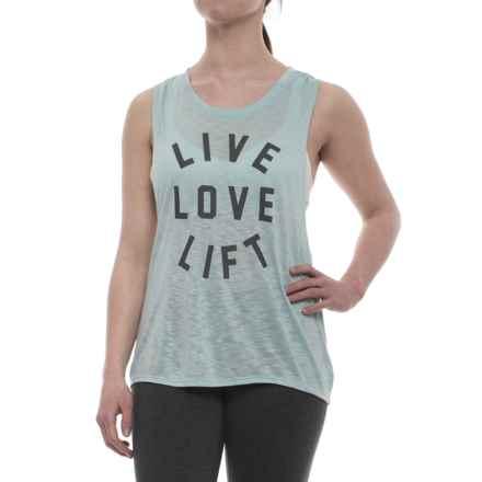 Studio9D8 Live Love Lift Twist Back Tank Top (For Women) in Dusty Blue - Closeouts