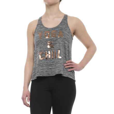 Studio9D8 Yoga and Chill Racer Tank Top (For Women) in Black - Closeouts