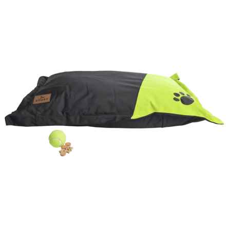 """Stuft Outdoor Pillow Dog Bed - 36x27"""" in Lime - Closeouts"""