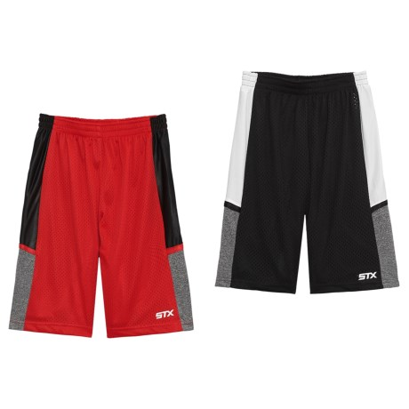 STX Athletic Shorts - 2-Pack (For Big Boys) in Black/Red