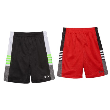 STX Athletic Shorts - 2-Pack (For Little Boys) in Black/Red
