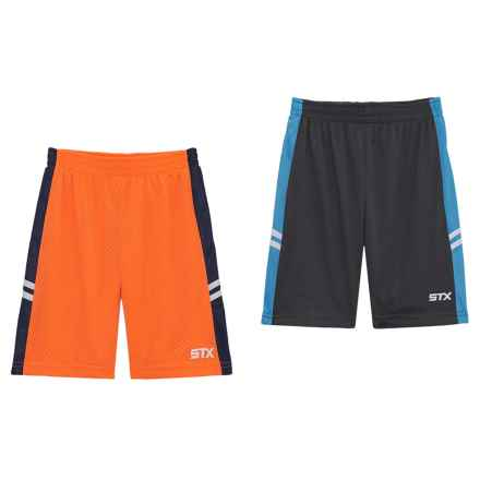 STX Athletic Shorts - 2-Pack (For Little Boys) in Multi - Closeouts