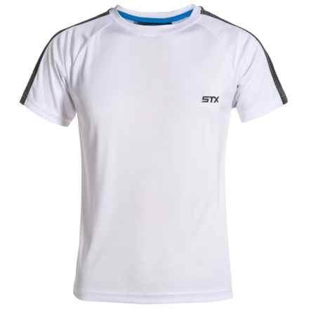 STX High-Performance T-Shirt - Short Sleeve (For Big Boys) in White - Closeouts