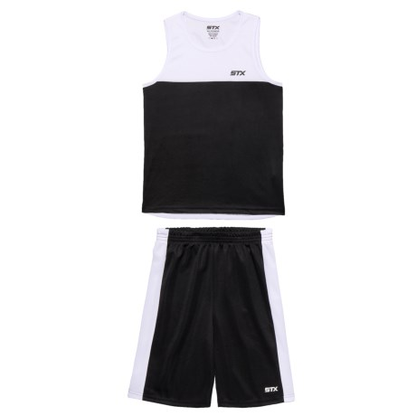STX Muscle Tank Top and Shorts Set (For Big Boys) in White