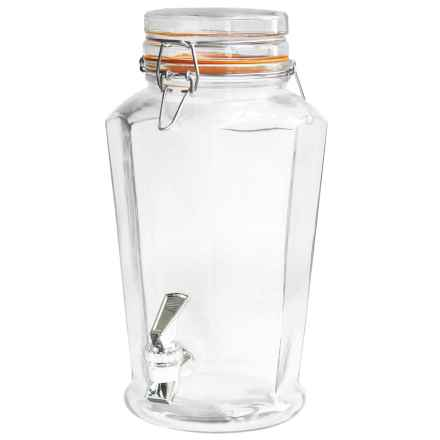 Style Setter Auburn Beverage Dispenser with Handle - 135 fl.oz. in Clear - Overstock