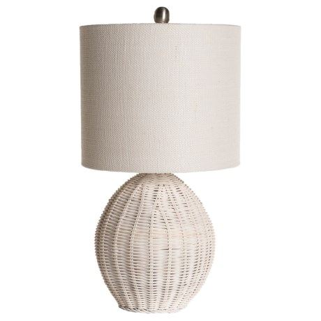 "Stylecraft Rattan Ball Table Lamp - 21"" in Natural"