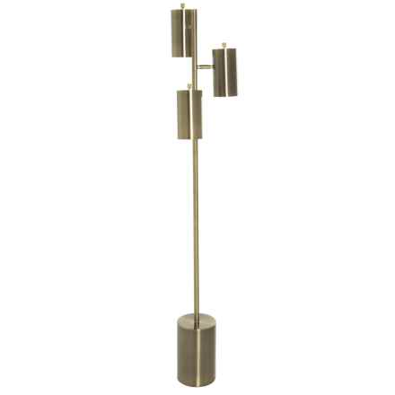 Stylecraft Steel Brushed Brass Floor Lamp in Gold - Closeouts