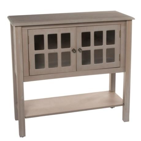 Stylecraft Window Panel Cabinet in Gray