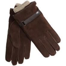 Suede Gloves with Removable Knit Liners (For Men) in Brown/Natural - 2nds
