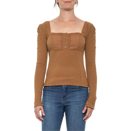 Sugar Sugar Shirt - Long Sleeve (For Women) - BROWN (L )