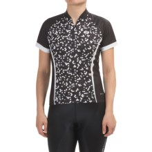 SUGOi Dot Cycling Jersey - UPF 20, Zip Neck, Short Sleeve (For Women) in Black - Closeouts