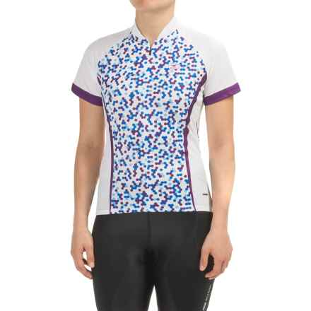 SUGOi Dot Cycling Jersey - UPF 20, Zip Neck, Short Sleeve (For Women) in Purple - Closeouts