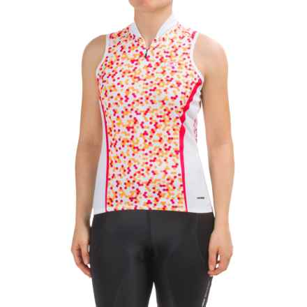 SUGOi Dot Cycling Jersey - Zip Neck, Sleeveless (For Women) in Bright Rose - Closeouts