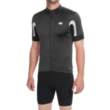 SUGOi Evolution Cycling Jersey - Full Zip, Short Sleeve (For Men) in Black/White - Closeouts