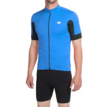 SUGOi Evolution Cycling Jersey - Full Zip, Short Sleeve (For Men) in True Blue/Black - Closeouts