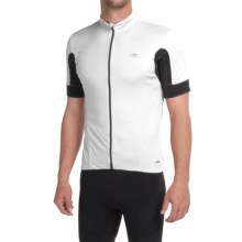 SUGOi Evolution Cycling Jersey - Full Zip, Short Sleeve (For Men) in White/Black - Closeouts
