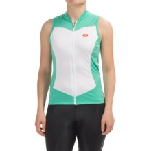 SUGOi Evolution Cycling Jersey - Full Zip, Sleeveless (For Women) in Glacier - Closeouts