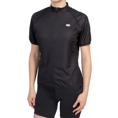 Sugoi Neo Cycling Jersey - Zip Neck, Short Sleeve (For Women) in Black
