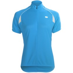 Sugoi Neo Cycling Jersey - Zip Neck, Short Sleeve (For Women) in Sky Blue