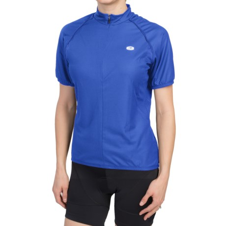 Sugoi Neo Cycling Jersey - Zip Neck, Short Sleeve (For Women) in True Blue
