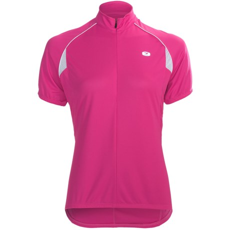 Sugoi Neo Cycling Jersey - Zip Neck, Short Sleeve (For Women) in Ultra Pink