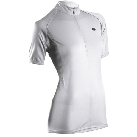 Sugoi Neo Cycling Jersey - Zip Neck, Short Sleeve (For Women) in White