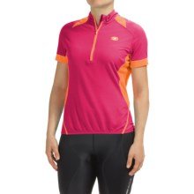 SUGOi Neo Pro Cycling Jersey - Zip Neck, Short Sleeve (For Women) in Bright Rose - Closeouts