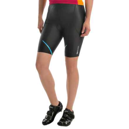 "SUGOi Piston 200 Tri PKT Triathlon Shorts - 9"" (For Women) in Black/Cyan - Closeouts"
