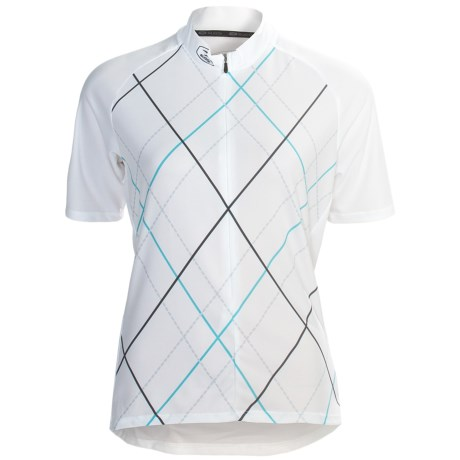 Sugoi Roxie Cycling Jersey - Zip Neck, Short Sleeve (For Women) in White