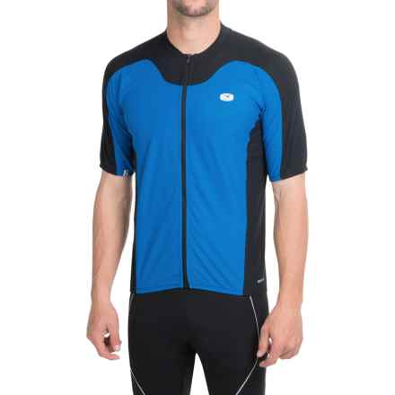 SUGOi RPM Cycling Jersey - Full Zip, Short Sleeve (For Men) in True Blue/Black - Closeouts