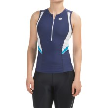 SUGOi RPM Tri Tank Top - Zip Neck (For Women) in Ink - Closeouts