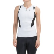 SUGOi RPM Tri Tank Top - Zip Neck (For Women) in White/Black - Closeouts