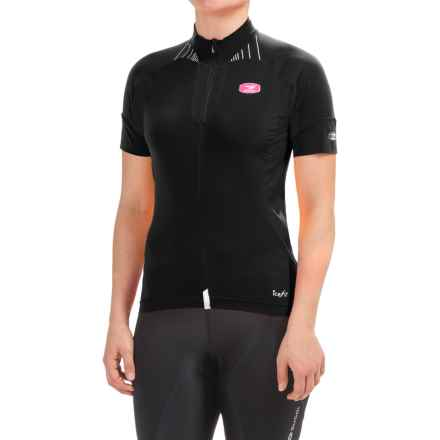 SUGOi RS Ice Cycling Jersey - Full Zip, Short Sleeve (For Women) in Black/Super Pink - Closeouts