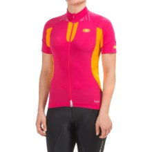 SUGOi RS Ice Cycling Jersey - Full Zip, Short Sleeve (For Women) in Bright Rose - Closeouts