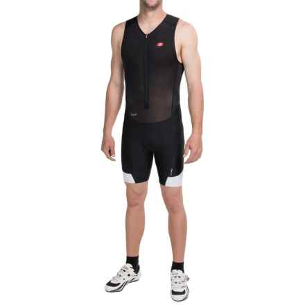 SUGOi RS Ice Tri Suit - Sleeveless (For Men) in Black/White - Closeouts