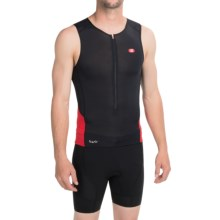 SUGOi RS Ice Tri Tank Top - UPF 50+, Zip Neck (For Men) in Black/White - Closeouts