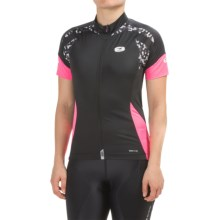SUGOi RS Pro Cycling Jersey - Full Zip, Short Sleeve (For Women) in Black/Super Pink - Closeouts