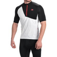 SUGOi RSX Mountain Bike Jersey - Zip Neck, Short Sleeve (For Men) in White/Black - Closeouts
