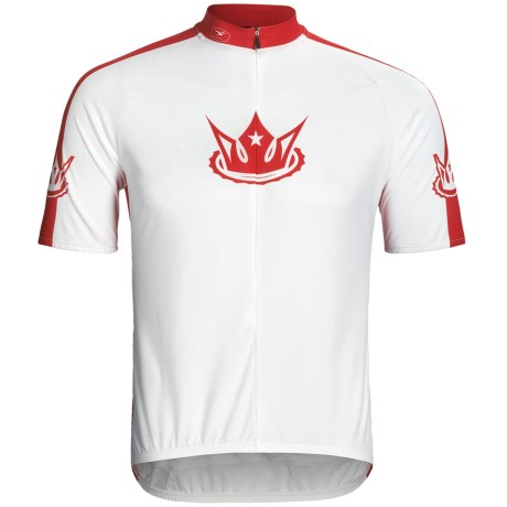 Sugoi Velo Kings Cycling Jersey - Short Sleeve, 3/4 Zip (For Men) in White/Matador