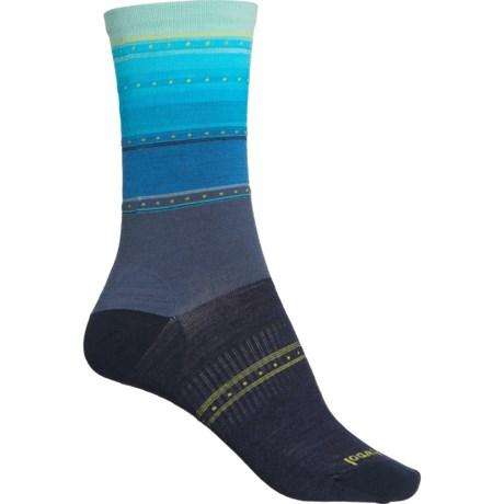 Sulawesi Stripe Socks - Merino Wool, Crew (For Women) - DARK BLUE STEEL (M ) -  SmartWool